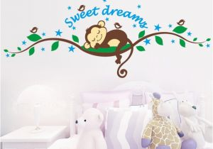 Monkey Murals for Nursery Monkey forest Diy Art Vinyl Quote Wall Sticker Bedroom Decal Mural