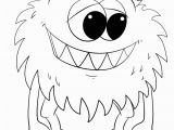 Monster Coloring Pages to Print Coloring Pages Cute Cartoon Monster Coloring Page Free