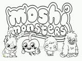 Monster Coloring Pages to Print Free Moshi Monsters Coloring Pages to Print Download Free