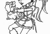 Monster High Christmas Coloring Pages Kids N Fun