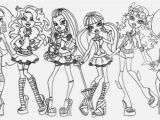 Monster High Color Pages Best Easy Monster High Coloring Pages