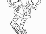 Monster High Robecca Steam Coloring Pages Monster High Robecca Steam Hold Head Coloring Page