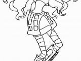 Monster High Robecca Steam Coloring Pages Robecca Steam Monster High Coloring Page