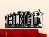 Monster High Wall Mural Bingo Logo Wall Decal Bingo Emblem Casino Lottery Fice