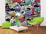 Monster High Wall Mural Ohpopsi Graffiti Monster Wall Mural Wals0004