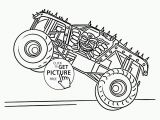 Monster Truck Coloring Pages Printable Free Monster Truck Max D Coloring Page for Kids Transportation