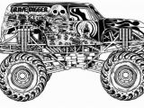 Monster Truck Coloring Pages Printable Grave Digger Coloring Pages