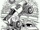 Monster Truck Coloring Pages Printable Smashing Monster Truck Jam Coloring Page for Kids
