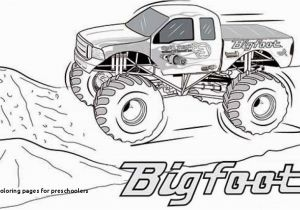 Monster Truck Coloring Pages Printable Truck Coloring Pages for Preschoolers 36 New Monster Trucks