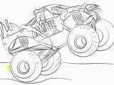 Monster Truck Coloring Pages Printable Zombie Monster Truck Coloring Page
