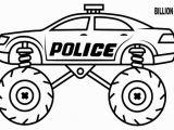 Monster Truck Police Car Coloring Page Monster Truck Black Color Wallpaper