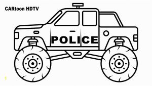 Monster Truck Police Car Coloring Page Police Monster Truck Coloring Pages Video Colors Vehicles