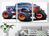 Monster Truck Wall Mural Amazon Canvas Prints Modern Art Framed Wall Mural
