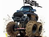 Monster Truck Wall Mural Cartoon Monster Truck Fence Wall Mural