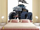 Monster Truck Wall Mural Cartoon Monster Truck Wall Mural