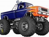 Monster Truck Wall Mural Monster Truck Wall Decal for Boys Kids Bedroom Wall Art