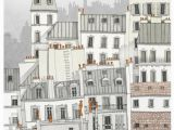 Montmartre Paris Wall Mural Paris Montmartre Paris Illustration Paris Art Prints