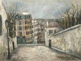 Montmartre Paris Wall Mural Rue Du Mont Cenis Montmartre Paris 1914 Par Maurice