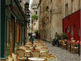 Montmartre Paris Wall Mural Streetside Cafe In Montmartre Paris France