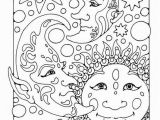 Moon and Stars Coloring Pages Difficult Coloring Pages for Adults