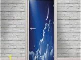 Moon and Stars Wall Mural Amazon Night Sky Door Wall Mural Wallpaper Stickers