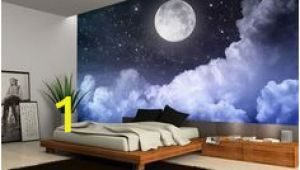 Moon and Stars Wall Mural Details About Night Sky Moon Clouds Dark Stars Wall Mural