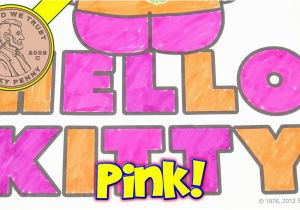 Moriah Elizabeth Coloring Pages Hello Kitty Coloring Book & Scentos Scented Markers I Make A Pink Kitty