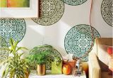 Moroccan Wall Murals Mandala Medallion Stencil for Painting A Circle Shape On