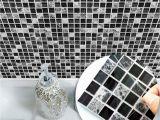 Mosaic Tile Murals Bathroom Funlife Black Mosaic Creative Tiles Stickers Kitchen Bathroom Floor