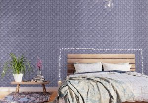 Mosaic Tile Wall Murals Folk Art Mosaic Tile Pattern Purple Wallpaper by Limolida