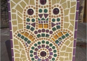Mosaic Tile Wall Murals Mosaic Hamsa Handmade Mosaic ornament Wall Art Hand Of Fatima Hamsa