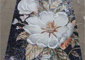 Mosaic Tile Wall Murals Mosaic Tile Mural Flowers Google Search