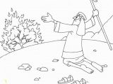 Moses & the Burning Bush Coloring Pages Moses and the Burning Bush Coloring Pages