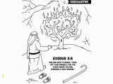 Moses & the Burning Bush Coloring Pages Moses Burning Bush Coloring Page W Verse