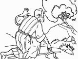 Moses & the Burning Bush Coloring Pages Moses Listen to God Through Burning Bush Coloring Pages