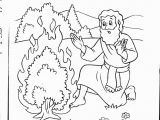 Moses & the Burning Bush Coloring Pages Pin On Bible Journaling Faith Illustration