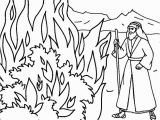 Moses & the Burning Bush Coloring Pages Printable Moses Coloring Pages for Kids