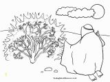 Moses & the Burning Bush Coloring Pages Sunday School Coloring Page Moses Burning Bush