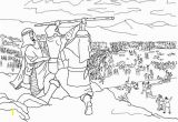 Moses and Joshua Coloring Pages israelites Battle Against Amalek Colouring Page Google Search