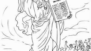 Moses and Joshua Coloring Pages Ten Mandments Ten Mandments for Moses People Coloring Page