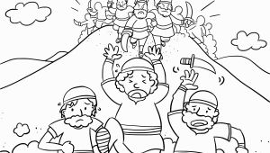 Moses and the Amalekites Coloring Page Moses Coloring Amalekites Coloring Pages