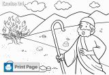 Moses and the Burning Bush Coloring Page Free Moses and the Burning Bush Coloring Pages – Connectus