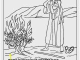 Moses and the Burning Bush Coloring Pages 27 Moses Burning Bush Coloring Page
