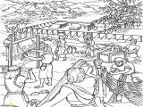 Moses and the Tabernacle Coloring Page Moses and the israelites Build the Tabernacle Coloring