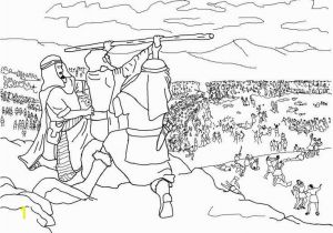 Moses Bible Coloring Pages Moses Coloring Pages Fresh israelites Battle Against Amalek