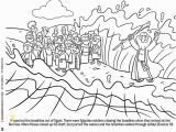Moses Parting the Red Sea Coloring Page Moses and the Red Sea Free Coloring Page