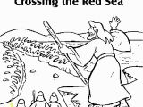 Moses Parting the Red Sea Coloring Page Moses Parting the Red Sea Coloring Page