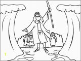 Moses Parting the Red Sea Coloring Page Moses Parts the Red Sea Coloring Page Coloring Pages 4 U