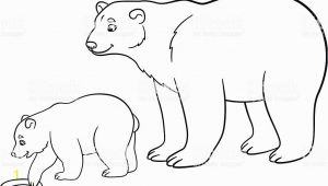 Mother and Baby Animal Coloring Pages Coloring Pages Mother Polar Bear with Her Baby Stock Vector Art