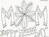 Mother Day Color Pages Printable Happy Mothers Day Coloring Page Agmc